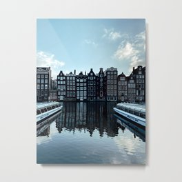Amsterdam Canal Houses | Cityscape travel photography wall art | Buildings Architecture Art Print Metal Print
