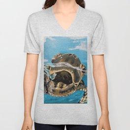 Sea Turtle By Noelle's Art Loft Unisex V-Neck