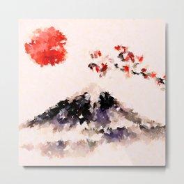 Sakura Fuji Metal Print
