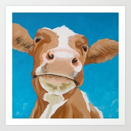 Enid the Contented Cow Art Print