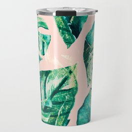 Leaf watercolor pastel Travel Mug