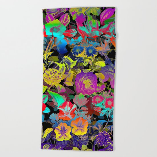 Lsd Floral Pattern Beach Towel