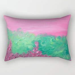 prickly pink Rectangular Pillow