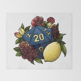 Marsala Lemon D20 Tabletop RPG Gaming Dice Throw Blanket