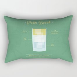 Palm Beach - Cocktail by Juan Rectangular Pillow