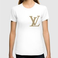 lv T-shirts featuring Side LV by Goldflakes