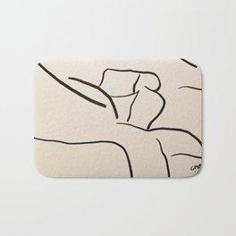 A Minimalist Charcoal Study of the Guggenheim Bilbao Bath Mat