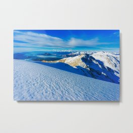 Snowy mountain in Italy Metal Print