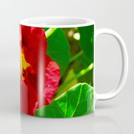 Red and Yellow Nasturtium Flower Coffee Mug