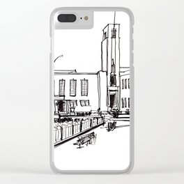 hornsey town hall, crouch end Clear iPhone Case