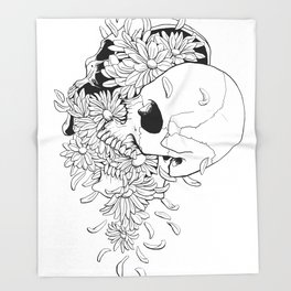 Skull (Pushing Up Daisies) Throw Blanket