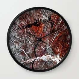 RED ARCHETYPAL STRUCTURES Wall Clock