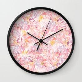 Pastel Flowers Wall Clock