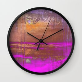Pink Color Patches Wall Clock