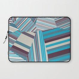Skycraper Blues - Voronoi Stripes Laptop Sleeve