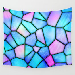 pastel stained glass Wall Tapestry