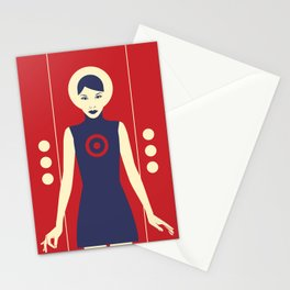 Isolde Red Stationery Cards
