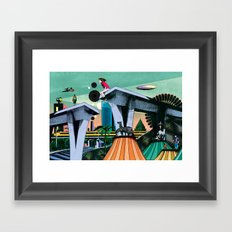 During his absence Framed Art Print