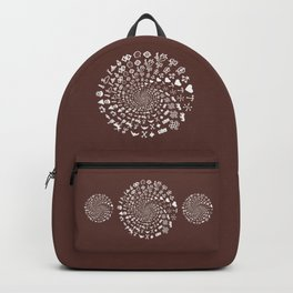 For the Love of Chocolate: Love Symbols Mandala Backpack