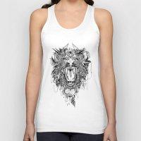lion Tank Tops featuring Lion by Feline Zegers
