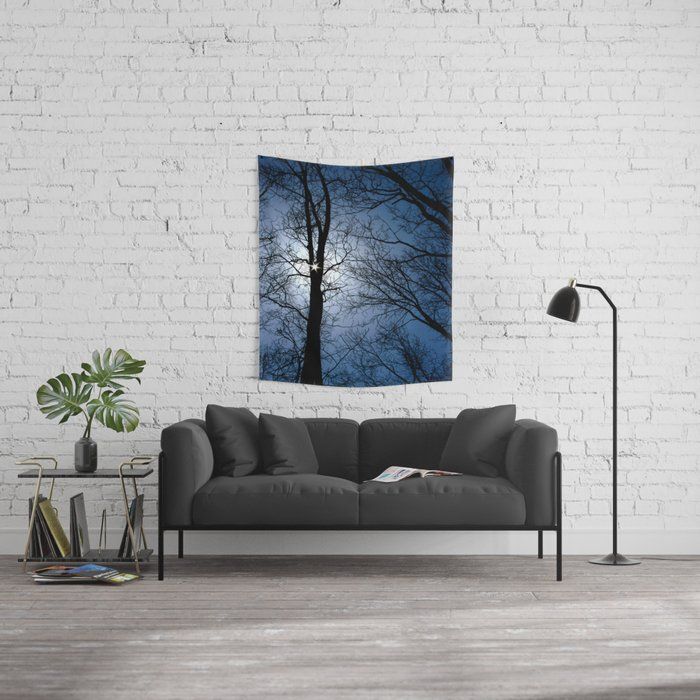 Winter Trees Wall Tapestry