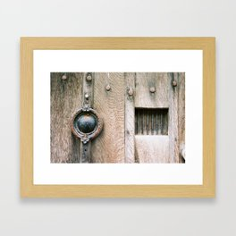 Weathered Door Framed Art Print