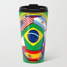 Ball With Various Flags Travel Mug