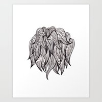 Hair Ball Art Print