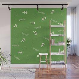 Sagittarius Pattern - Green Wall Mural