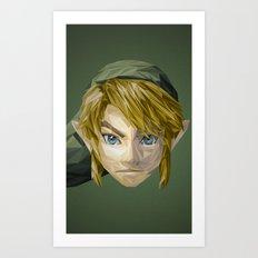 Triangles Video Games Heroes - Link Art Print