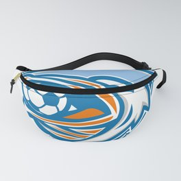 Pelican Soccer Ball In Mouth Shield Retro Fanny Pack