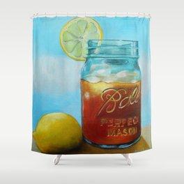 Tea and Lemon Shower Curtain