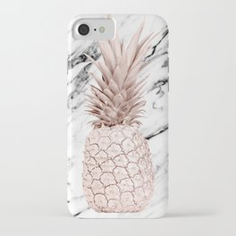 Pineapple Rose Gold Marble iPhone Case