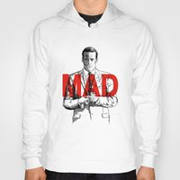 mad men Hoodies featuring Don Draper Mad Men by Mark McKenny