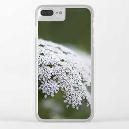 Queen Anne's Lace Clear iPhone Case