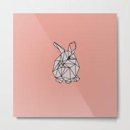 Geometric Bunny Metal Print