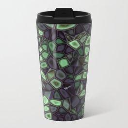Fractal Gems 04 - Emerald Dreams Metal Travel Mug