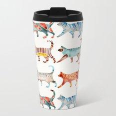 Cat Collection: Watercolor Metal Travel Mug
