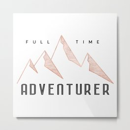 Full Time Adventurer Rosegold Mountains Metal Print