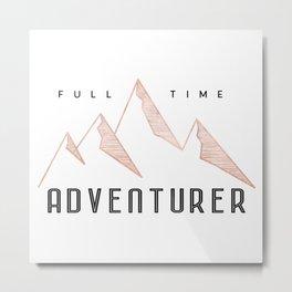 Full Time Adventurer Rosegold Mountains Metal Print