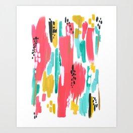 Watermelon Abstract  Art Print