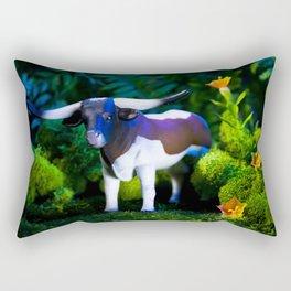A Steer Cattle Cow at Night Rectangular Pillow