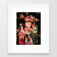 frida Framed Art Prints featuring Frida by Fernando Vieira