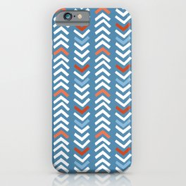 Abstract Chevron - Night Blue and Red iPhone Case