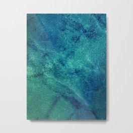 Space Marble Metal Print