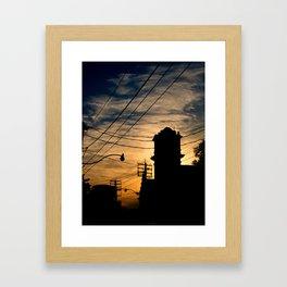 Firehall Sunset Framed Art Print