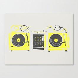 DJ Vinyl Decks And Mixer Canvas Print