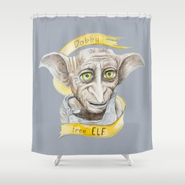Dobby free Elf Harry Patter Shower Curtain