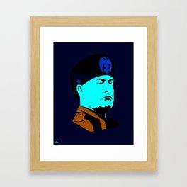 mussolini Framed Art Print