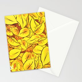 Yellow Leaves - Ver 1 (you can create set with Yellow Leaves Ver 2) Stationery Cards